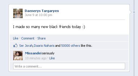 אם משחקי הכס היה קורה בפייסבוק.
