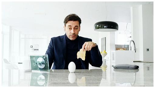 ופה ג'ון האם מדבר עם ביצה.